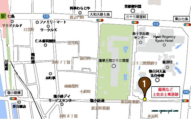 東山区西側史跡マップ