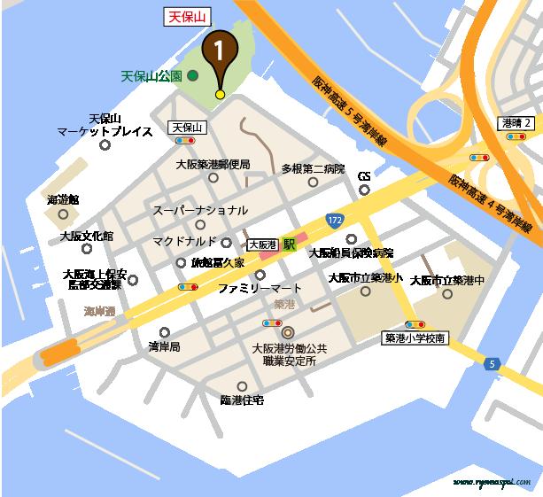 大阪市港区史跡マップ