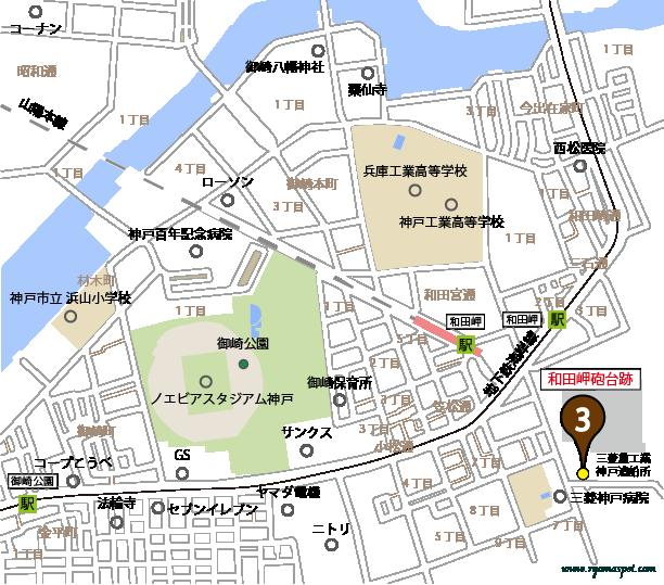 神戸市兵庫区史跡拡大マップマーク3