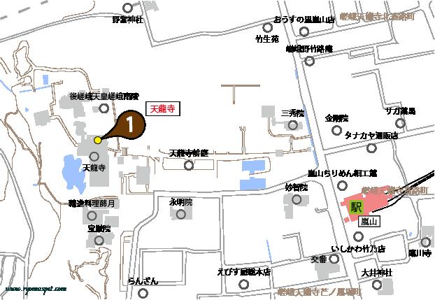 右京区史跡マップマーク1