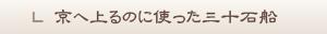 京へ上るのに使った三十石船