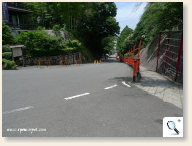 円山公園からの坂