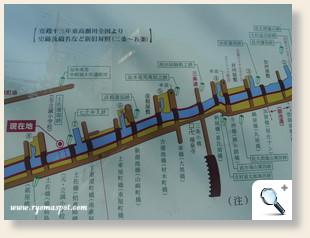 高瀬川沿革図