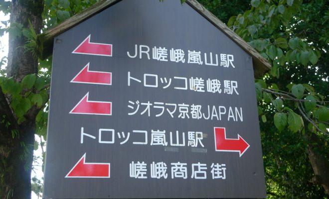 嵯峨嵐山看板
