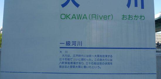 大川河川看板