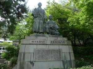 龍馬と中岡慎太郎の銅像
